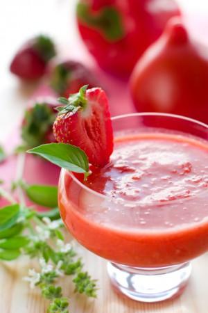 Gazpacho de fraises par les Chefs d'Alsace