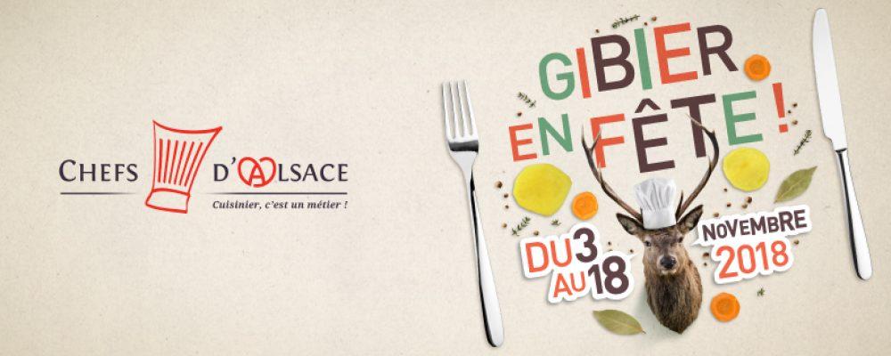 Gibier en fête par les Chefs d'Alsace : du 3 au 18 novembre prochains !