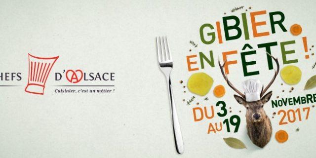 Les Chefs d'Alsace fêtent le gibier du 3 au 19 novembre prochains !